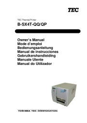 Toshiba TEC B-SX4T-QQ-QP Thermal Printer Owners Manual page 1