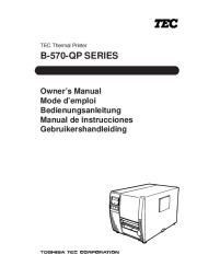 Toshiba B-570-QP Thermal Printer Owners Manual page 1