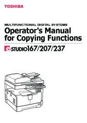 Toshiba E-Studio 167 207 237 Printer Copier Owners Manual page 1