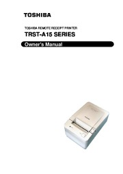 Toshiba TRST-A15 Remote Receipt Printer Owners Manual page 1