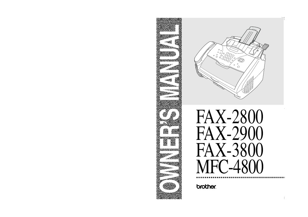 brother fax 2800 fax 2900 fax 3800 mfc 4800 users guide manual rh computer equipment needmanual com Brother Intellifax 2820 Brother Intellifax 1270
