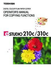 Toshiba E-Studio 210c 310c Color Printer Copier Owners Manual page 1