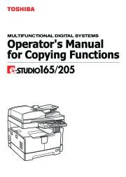 Toshiba E-Studio 165 205 Printer Copier Owners Manual page 1