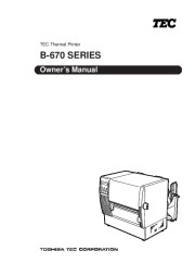 Toshiba TEC B-670 Thermal Printer Owners Manual page 1