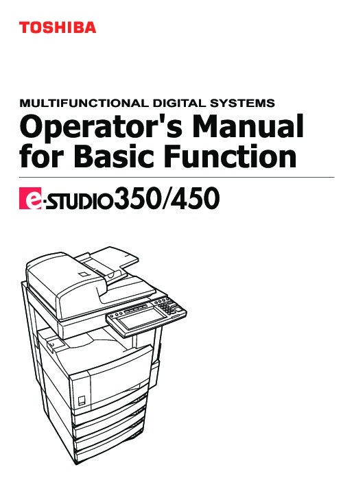 toshiba e studio 350 450 printer copier owners manual rh computer equipment needmanual com toshiba e studio 450 service manual pdf Driver Toshiba 450s
