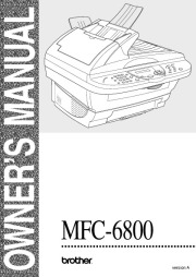 Brother MFC-6800 Laser Multifunction Printer Scanner Copier & Fax Users Manual page 1