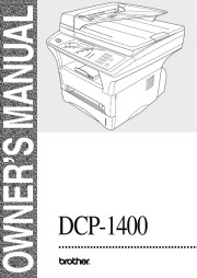 Brother Laser Multifunction Copier Printer DCP-1400 Users Guide Manual page 1