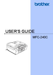 Brother MFC-240C Color Inkjet All-in-One Printer with Fax Users Guide page 1