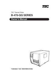 Toshiba TEC B-470-QQ Printer Owners Manual page 1