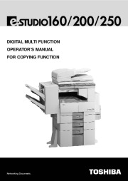 Toshiba E-Studio 160 200 250 Printer Copier Owners Manual page 1