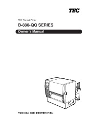 Toshiba B-880 QQ Thermal Printer Owners Manual page 1