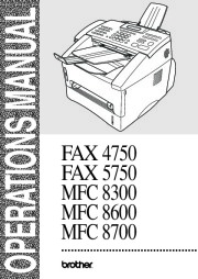Brother Printer Copier FAX 4750 FAX 5750 MFC 8300 MFC 8600 MFC 8700 Users Manual page 1