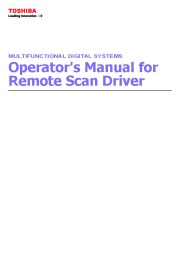 Toshiba E-Studio 5520C 6520C 6530C FC 2330C 2820C 2830C 3520C 3530C DP Remote Scan Driver Manual page 1