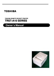 Toshiba TRST-A10 Series Remote Receipt Printer Owners Manual page 1