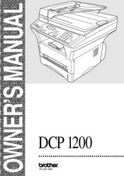 Brother DCP-1200 Multifunction Digital Copier Laser Printer and Color Scanner Users Guide Manual page 1