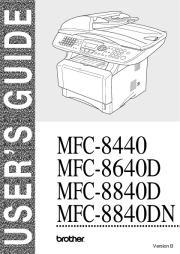 Brother MFC-8440 MFC-8640D MFC-8840D MFC-8840DN Laser Printer Users Guide Manual page 1