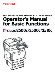 Toshiba E-Studio 2500c 3500c 3510c Printer Copier Owners Manual page 1