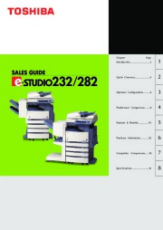 Toshiba E-Studio 232 282 Printer Copier Owners Manual page 1
