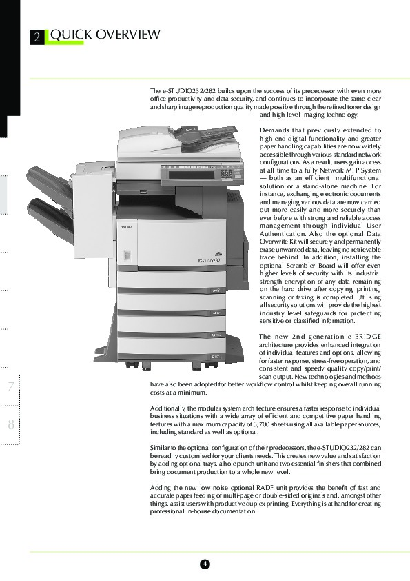 toshiba e studio 232 282 printer copier owners manual rh computer equipment needmanual com LaserJet Printers Copiers Lexmark MFP