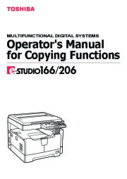 Toshiba E-Studio 166 206 Printer Copier Owners Manual page 1