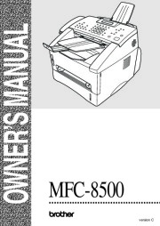 Brother MFC-8500 Laser Multifunction Center Users Guide page 1