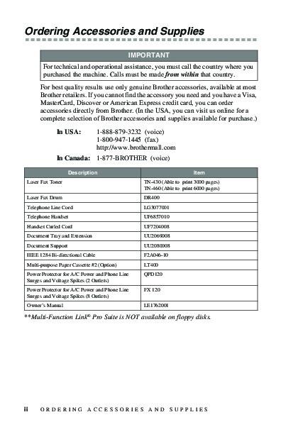 mfc 8500 fax machine